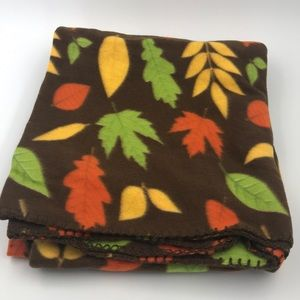 Other - Fall Maple Leaves Fleece Throw